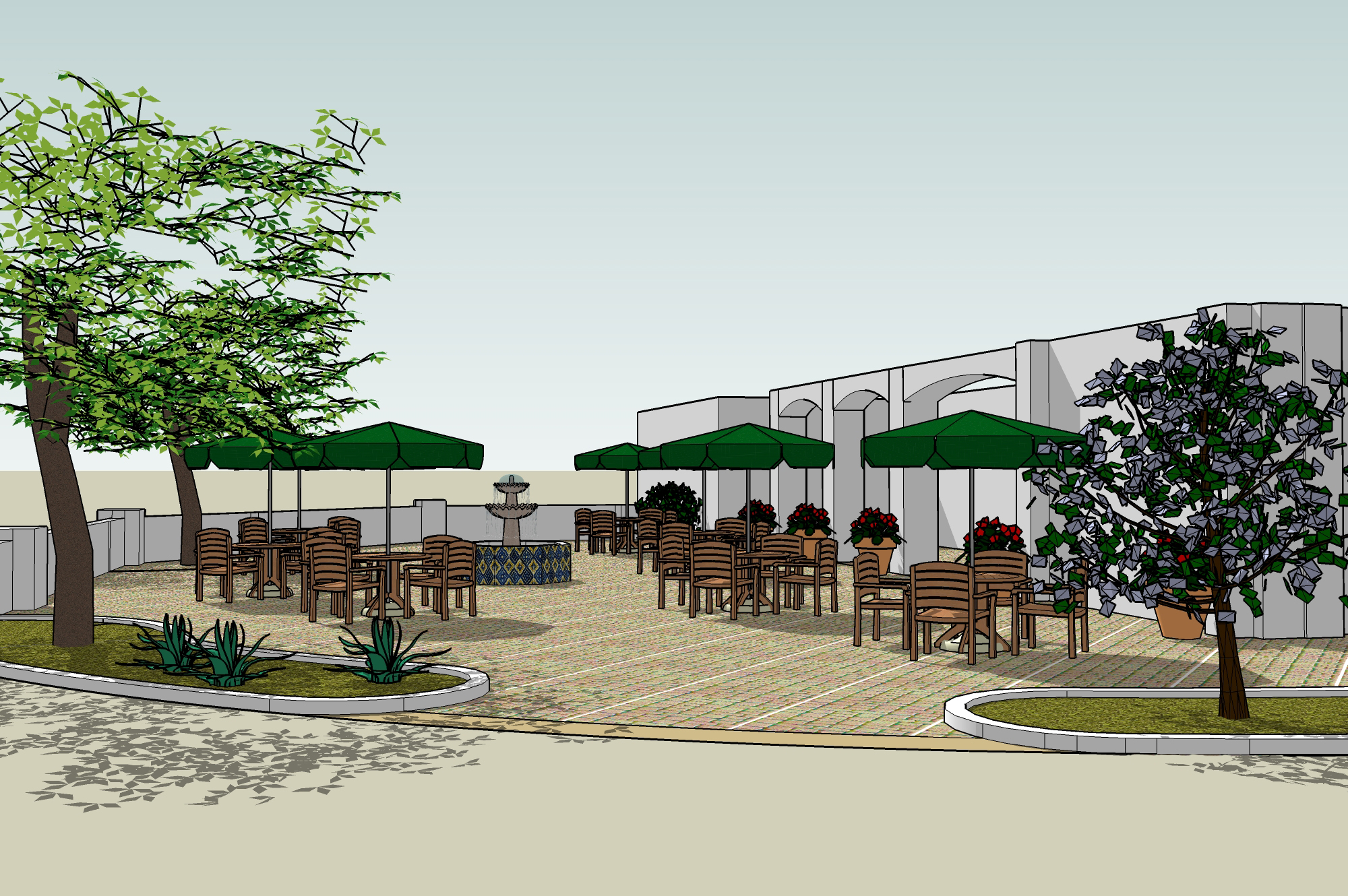 Outdoor Restaurant Seating Layout Ideas